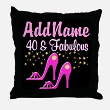 40TH PINK SHOES Throw Pillow