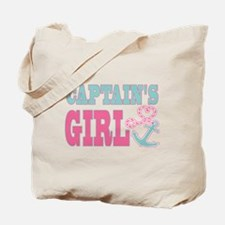 Captains Girl Boat Anchor and Heart Tote Bag