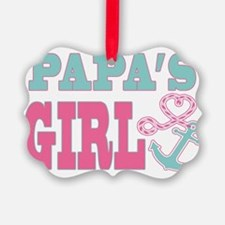Papas Girl Boat Anchor and Heart Ornament