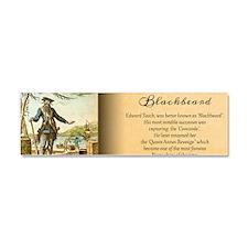 Balckbeard Historical Car Magnet 10 x 3