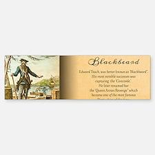 Balckbeard Historical Bumper Bumper Sticker