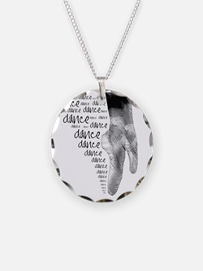 dance dance dance 2 Necklace Circle Charm