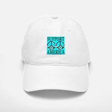 Support America Peace Symbol Baseball Baseball Cap