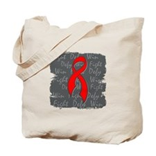 AIDS Fight Defy Win Tote Bag