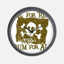 All For Rum Wall Clock