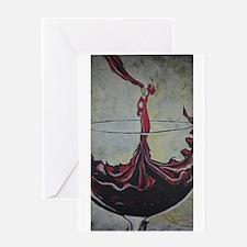 Wine Lady Greeting Card