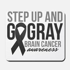 Step Up and Go Gray Mousepad
