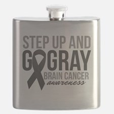 Step Up and Go Gray Flask