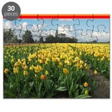 Holland Windmill and Tulips Puzzle
