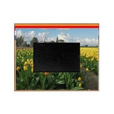 Holland Windmill and Tulips Picture Frame