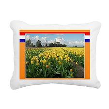 Holland Windmill and Tul Rectangular Canvas Pillow