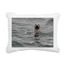 Harbor Seal Rectangular Canvas Pillow