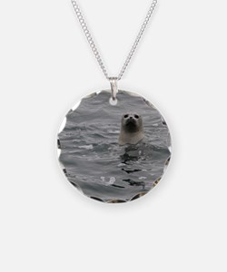 Harbor Seal Necklace Circle Charm
