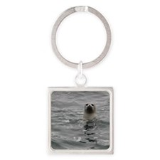 Harbor Seal Square Keychain