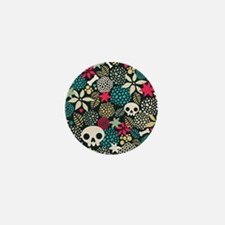 Skulls and Flowers Mini Button