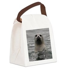 Harbor Seal Canvas Lunch Bag