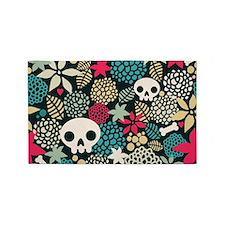 Skulls and Flowers 3'x5' Area Rug