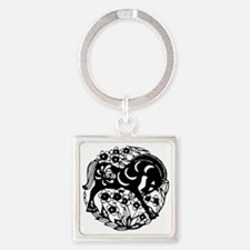 horseA60light Square Keychain
