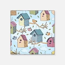 "Cute Birdhouses Square Sticker 3"" x 3"""