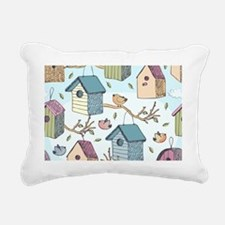 Cute Birdhouses Rectangular Canvas Pillow