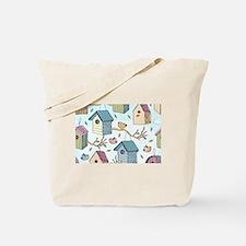 Cute Birdhouses Tote Bag