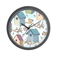 Cute Birdhouses Wall Clock