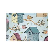 Cute Birdhouses Rectangle Magnet