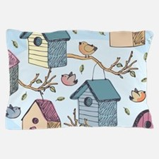 Cute Birdhouses Pillow Case