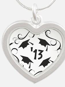 GRAD 2013 Silver Heart Necklace
