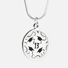 GRAD 2013 Silver Round Necklace