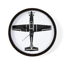 T-6 Black Top Wall Clock