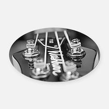 Washburn Bass Guitar black and whi Oval Car Magnet