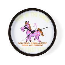 horseA55dark Wall Clock