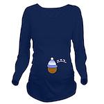 ZZZl Sleeping Baby Long Sleeve Maternity T-Shirt