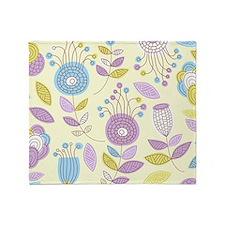 Cute Floral Pattern Throw Blanket
