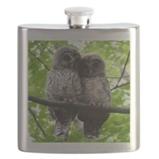 Cuddling Owls Flask