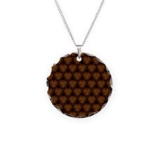 Abstract Brown and Gold Necklace