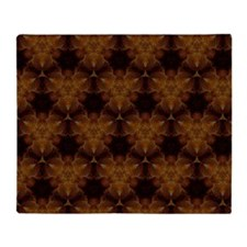 Abstract Brown and Gold Throw Blanket