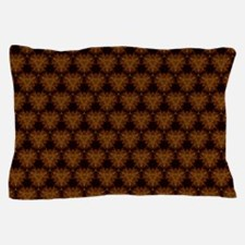 Abstract Brown and Gold Pillow Case