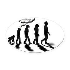 Evolutionary Quandary Oval Car Magnet