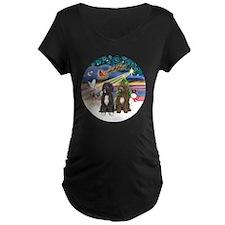 R-XmasMagic-TwoPWD-blk+brn T-Shirt