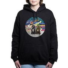 R-XmasMagic-TwoPWD-blk+brn Hooded Sweatshirt