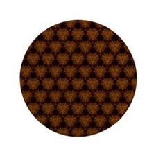 "Abstract Brown and Gold 3.5"" Button"