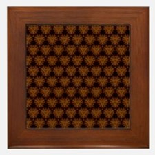 Abstract Brown and Gold Framed Tile