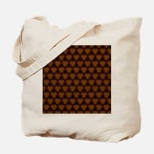 Abstract Brown and Gold Tote Bag