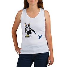 Boston Terrier Olympic Curling Women's Tank Top