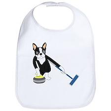 Boston Terrier Olympic Curling Bib