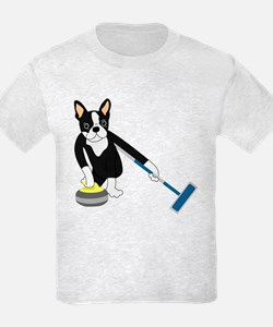 Boston Terrier Olympic Curling T-Shirt