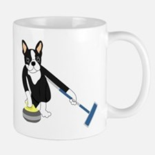 Boston Terrier Olympic Curling Mug