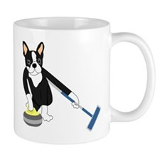 Boston Terrier Olympic Curling Small Mug